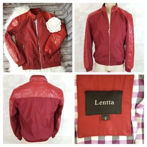 Lentta lightweight softshell red jacket size small